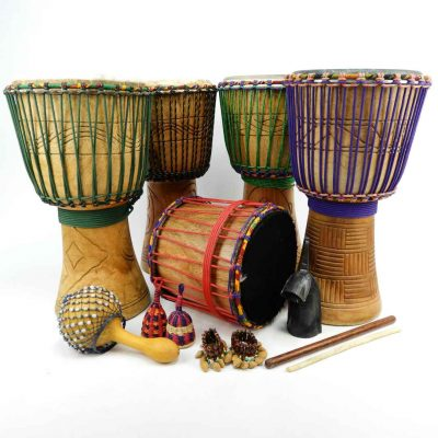 African Drum Starter Pack, made in Ghana for African Drumming