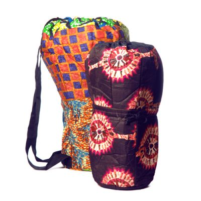 Ghana cloth djembe bag