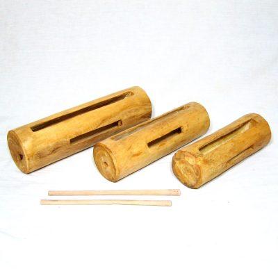 hand carved log drum