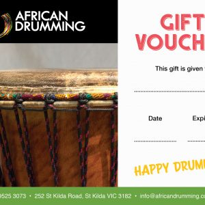 African Drumming gift vouchers