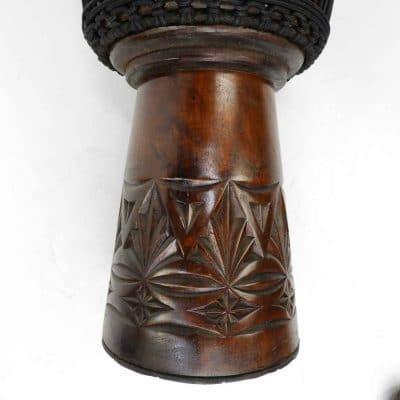 mahogany djembe hand carved