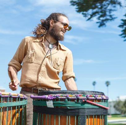 djeme, community, class, online, drumming