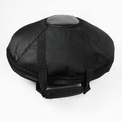 Quality sturdy black handpan bag with handles for hang drum inspired handpan drums