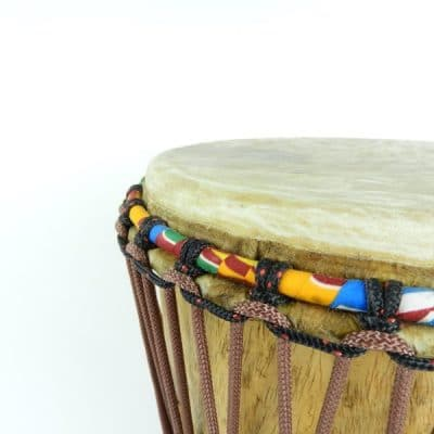 Bougarabou, traditional drum, hand carved in West Africa