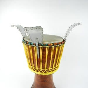 Sessi sessi. Hand made in Guinea for drum accessories.