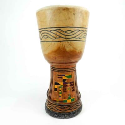 kente djembe shells made in Ghana for African Drumming