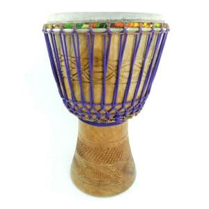 African djembe from Ghana, this drum is made from hardwood