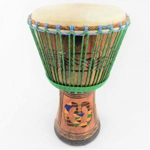 djembe with kente