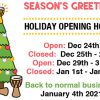 African Drumming Christmas opening hours