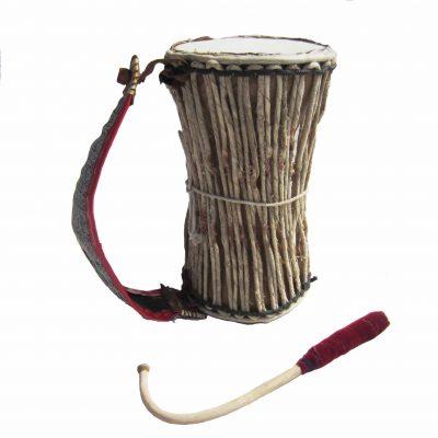 medium Yoruba Gangan talking drum from Nigeria